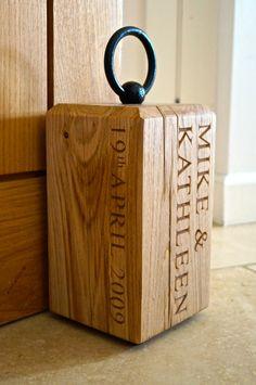 Personalised Oak Doorstops   MakeMeSomethingSpecial.co.uk