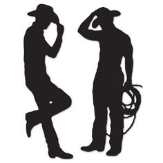 Western Party Cowboy Silhouettes