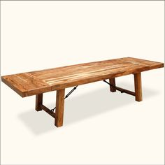 Rustic Wood Large Santa Fe Handcrafted Dining Room Table w Extensions