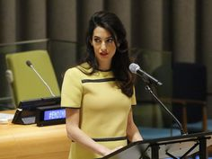"""Amal Clooney is pregnant! Did you know that? Pregnant! Enriched with the Hollywood sperm of her husband George, Clooney is currently in the process of growing not one but two – two! – babies. And she is """"blossoming"""", says theSun. Also, she wore yellow, which is a """"brave colour"""" in which to """"show off"""" her bump (the Mirror). Brave Amal Clooney."""