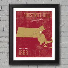 Boston College Print by UniversityPrints on Etsy, $12.00