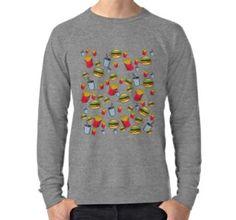 fast food fries burger and cola Fries, Fast Food, Graphic Sweatshirt, T Shirt, Trends, Sweatshirts, Long Sleeve, Hamburger, Sleeves