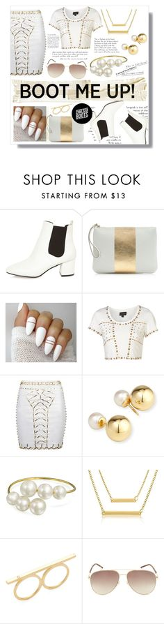 """""""Chelsea Boots"""" by faleur102 ❤ liked on Polyvore featuring River Island, J.Crew, Yoko London, Bling Jewelry, Adoriana, Jennifer Zeuner, Marc Jacobs and chelseaboots"""