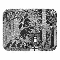 Moomin Cottage in the Woods Medium Tray