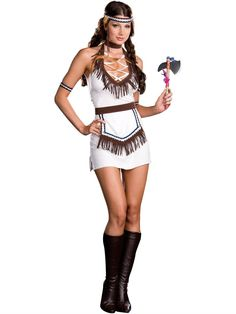Womenu0027s Indian Princess Halloween Costume. White Indian Adult Costume available at Teezerscostumes.com  sc 1 st  Pinterest : womens indian costumes  - Germanpascual.Com