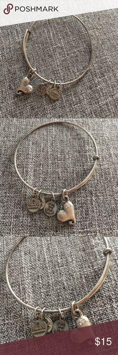Alex & Ani - Heart ❤️ Bracelet. Alex & Ani - Heart ❤️ Bracelet. Has small shimmer stones on heart. Alex & Ani Jewelry Bracelets