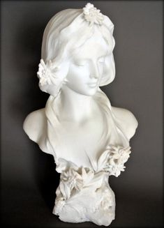 Amazing Art Nouveau Carrara marble sculpture Torso of young woman with flowers Plaster Sculpture, Art Sculpture, Abstract Sculpture, Metal Sculptures, Bronze Sculpture, Art Deco, Design Art Nouveau, Statue Ange, Greek Statues