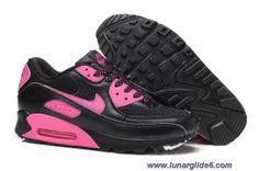 New Nike Air Max 90 Black Pink Womens Shoes