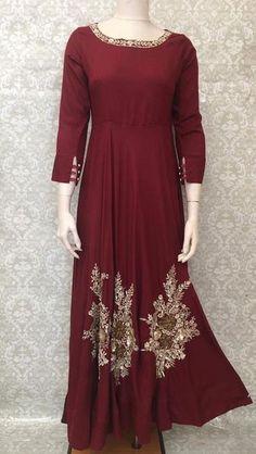 2a0a17437c7 Rayon Embroidered Floor Length Maxi Dress