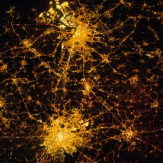 Brussels and Antwerp at Night: The brilliant lights of Belgium shine in this nighttime photograph taken from the International Space Station. Nasa Earth Images, Earth At Night, The Second City, International Space Station, Iss International, Space Photos, Earth From Space, Image Of The Day, See It