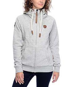 Naketano Brazzo VII Grey Melange Zip Up Hoodie Thick Hoodies, Cold Weather  Fashion, Black f4f42e80e0