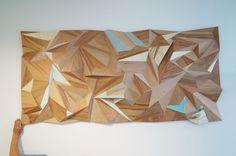 Sculptural wall panel at Eight Cafe, New Regent Steet, Christchurch by Rekindle