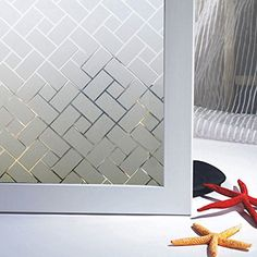 Non-Adhesive Static Frosted Window Film Stained Glass Window Film Privacy Film for Home Bathroom Living Room Glass Film Design, Window Glass Design, Frosted Glass Design, Types Of Window Glass, Frosted Window Film, Stained Glass Window Film, Diy Frosted Glass Window, Frosted Glass Sticker, Bathroom Windows
