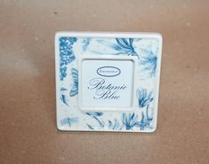 Your place to buy and sell all things handmade English House, Blue And White China, Square Photos, Blue Square, British Style, Botanical Illustration, Bees, Classic Style, House Styles