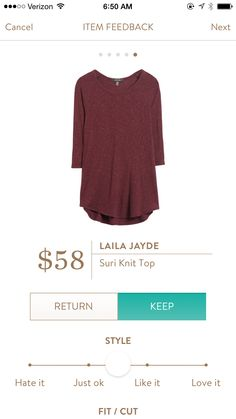 Laila Jayde Suri Knit Top -  like the style of this top and length. Other colors available?
