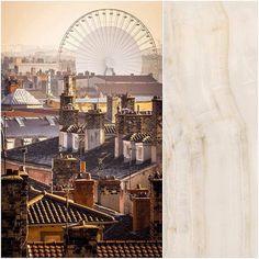 """. Um dia rosado. """"Big Wheel Over The Roofs Of The Old City Of Lyon"""" by Yoann Lambert. Tons de pérola rosa pele e coral são o grande diferencial do porcelanato Duomo Opala da @CeramicaPortinari #AldeiaTem #AldeiaAcabamentos #fotografia #photography #cidade #city #telhado #roof #rodagigante #bigwheel #piso #floor #porcelanato #porcelaintile #DuomoOpala #Portinari #CeramicaPortinari #BigWheelOverTheRoofsOfTheOldCityOfLyon #YoannLambert by aldeiaacabamentos http://ift.tt/2571zg0"""