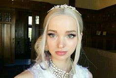 """Dove Cameron posted on her Instagram. """"behind the scenes fun fact: mal is the only non-humam of 4 villain kids, and is technically..."""""""
