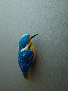 knitted kingfisher <3 I need to find a pattern for this!