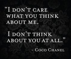 Coco Chanel - sassy pants!