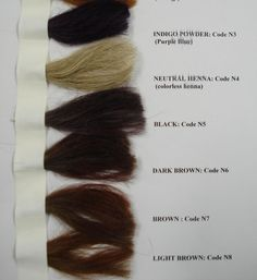 Henna Color Chart