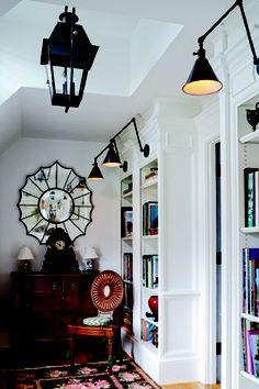 Boston Functional Library light at work in a hallway. Architect :Joseph W. Dick &  Designer: Marigil M. Walsh Astorino