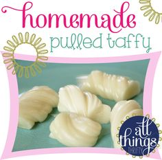 Homemade Pulled Taffy, wonder if you could use maple syrup in stead of corn syrup :)