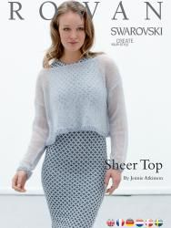 Sheer Top PDF FREE PATTERN TO KNIT FROM ROWAN.COM. TRANSLATED INTO GERMAN, FINNISH, DUTCH AND SWEDISH.