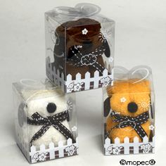 A5008 Perrito marrón/naranja/blanco toalla
