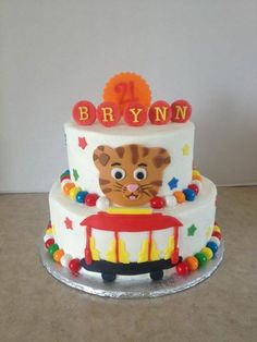 daniel tiger birthday cake - like the concept as a starting point :)  definitely needs different icing colors
