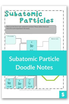 Are you looking for a fun way to teach protons, neutrons and electrons to high school chemistry students? These notes illustrate what happens when a proton or electron is lost. They also talk about the mass of a proton. #chemistry High School Chemistry, Chemistry Teacher, Chemistry Worksheets, Chemical Equation, Middle School, Students, Lost, Notes