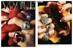 Vogue: pawpaw, strawberries and diamonds - healthy eating inspiration for GLOWLIKEAMOFO.com
