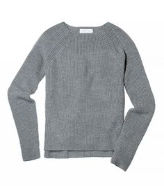Everlane The Chunky Knit Raglan in Grey
