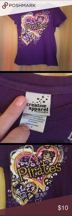 💜ECU pirates  tee💛 East Carolina Pirates tee. Medium. 100%cotton. creative apparel Tops Tees - Short Sleeve