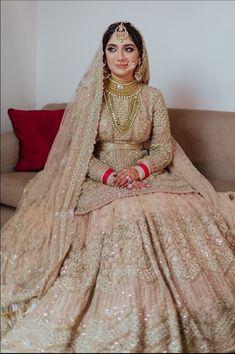 indian jewelry & wedding ceremony outfit Child pink sequins peplum bridal lehenga from Chandni Chowk Asian Bridal Dresses, Pakistani Wedding Outfits, Indian Bridal Outfits, Indian Bridal Lehenga, Pakistani Bridal Dresses, Pakistani Wedding Dresses, Indian Dresses, Pink Bridal Lehenga, Pink Lehenga