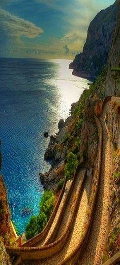 Via Krupp in Capri, Italy