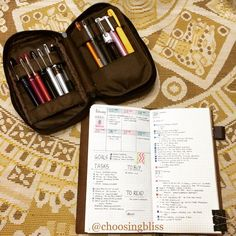 Day 2 : Getting used to my adapted #bulletjournal system using the #MidoriTravelersNotebook  #planner