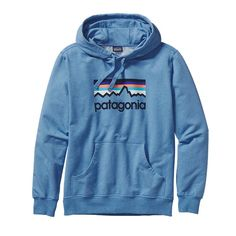 Patagonia Men\'s Line Logo Midweight Pullover Hoody - Andes Blue ANDB