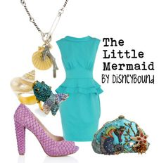"Disney Princess ""The Little Mermaid""-inspired outfit. 