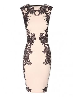 Lace Print Embellished Dress | Jane Norman