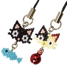 Bead Jewellery, Cat Jewelry, Peyote Patterns, Beading Patterns, Pixel Beads, Peyote Beading, Peyote Stitch, Beads And Wire, Bead Weaving