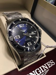 Longines Hydroconquest Blue Dial Automatic Stainless Mens Watch L36424966-NEW- | Jewelry & Watches, Watches, Parts & Accessories, Wristwatches | eBay!