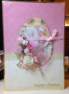 Easter Card 2016 (6) - A5 - makings from stash