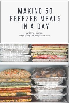 She made 50 FREEZER MEALS in ONE DAY! Say what?? This is the BEST list of freezer meals for good tasting and easy to make freezer meals.
