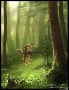 Dragons of the Wood Fantasy Dragon, Dragon Art, Magical Creatures, Fantasy Creatures, Fantasy World, Fantasy Art, Dragon's Lair, Dragons, Legendary Creature