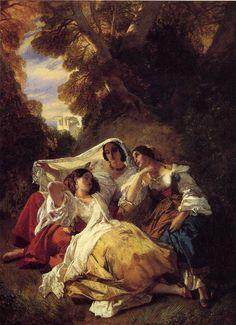 Cave to Canvas, Franz Xavier Winterhalter,La Siesta, 1841