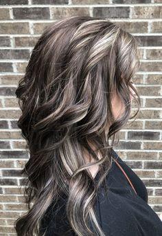 Brown Hair With Highlights, Hair Flip, Going Gray, Beauty Advice, Hair Tutorials, Gray Hair, Silver Hair, Cut And Color, Hair Colors