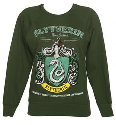 All of the wamt for this! Birthday pressent right there!!! Ladies Harry Potter Slytherin Team Quidditch Sweater : TruffleShuffle.com