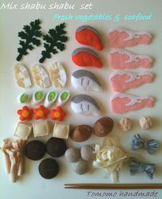 Felt food  Mix Shabu shabu set. $38.00, via Etsy.
