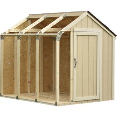 Build your own custom shed using Shed Kit Brackets and your materials.