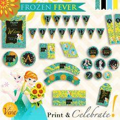 Frozen Fever Birthday Printable Party  by VivaPrintCelebrate
